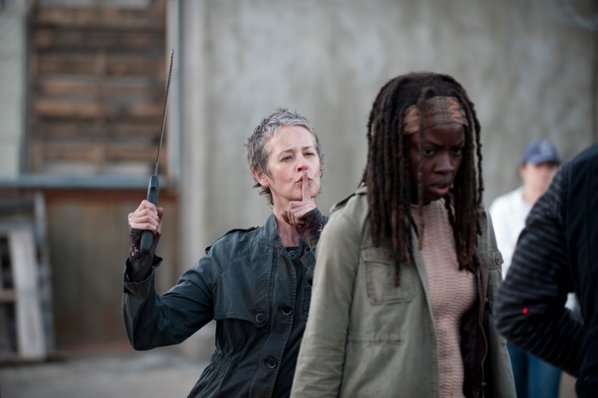 Carol (Melissa Suzanne McBride) and Michonne (Danai Gurira) - The Walking Dead - Season 3, Episode 16 - Photo Credit: Gene Page/AMC